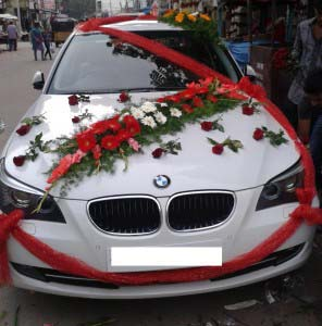 Decoration Voiture Rouge Mariage